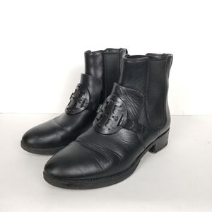 Tory Burch miller Chelsea ankle boots, size 8, black leather